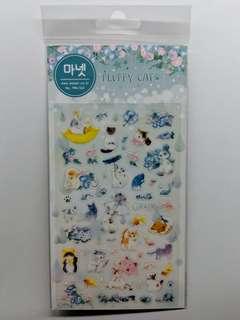 [BN] Cute Korean Cat Sheet Stickers (Blue Ver)