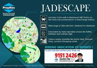Jadescape condo walk from marymount mrt 3mins only!