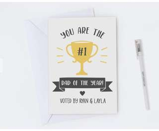 Father's Day #1 trophy card