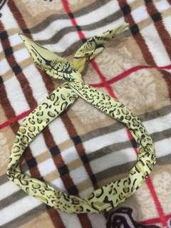 Yellow Animal Printed Headband