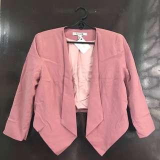 (NEW) Forever21 Old Rose cropped blazer
