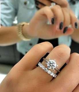 鑽石戒指 1ct I VVS1 3EX NON GIA正品