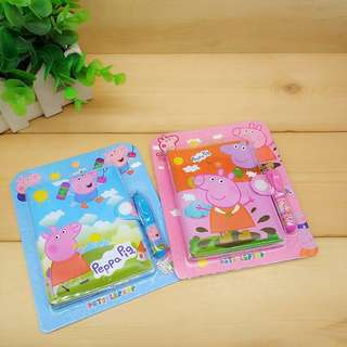 Peppa pig notebook2️⃣forS$15 with pen