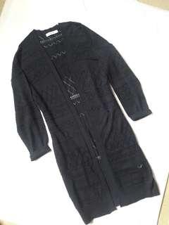 Branded Long Cardigan