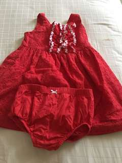Red dress set by hartstring