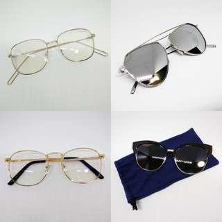 Two Sunglasses + Two Eyeglasses Bundle