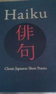 Japanese poem book