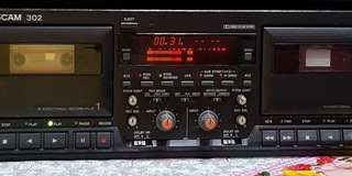 Tascam 302 double cassette player.