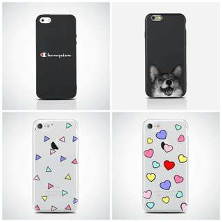 Rubber, Clear, and Matte Cases for Iphones!! ❤️