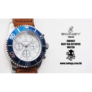 SWINGY DSO Watch Brown Leather