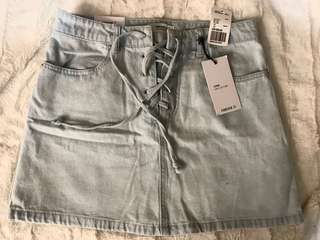 *New* Lace-up Denim Skirt (Size 27)