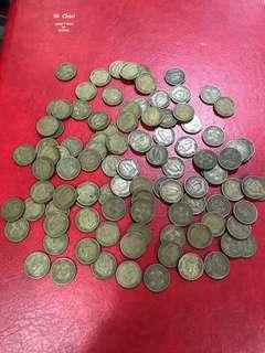 49年喬治六世伍仙,單價3.5元,100個共售: