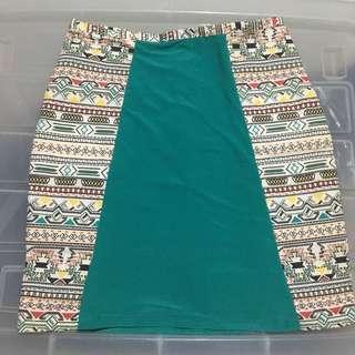 bandage aztec skirt