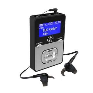 650. WalkRadio K1,DAB radio portable,MP3 Player portable(MP3 WAV... / Micro SD Card ) - Rechargable Battery(Upto 12 Hours Playtime/Record Radio to WAV) Personal Portable Pocket Handheld