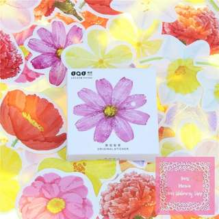 45pcs Fresh Flowers Sticker Pack
