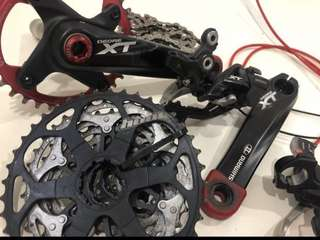 Shimano M780 XT 1 x 10 Speed Groupset W Hope 40T