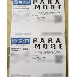 Paramore VIP Tickets (2)