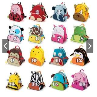 Animal Design School Bag Toy Bag for Kids Children Preschool Boy Girl