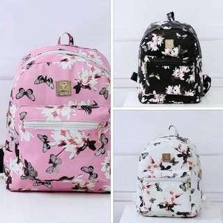 LY: Korean Floral Backpack