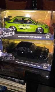 F&F Brian's Mitsubishi Evo and Nissan Skyline