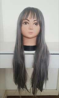 Long Gray Ulzzang wig