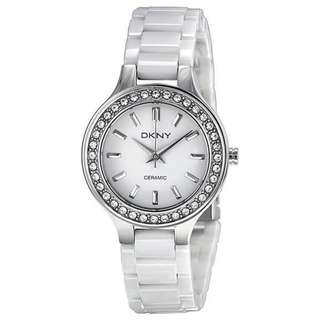 WHITE DIAL WHITE CERAMIC LADIES WATCH NY4982