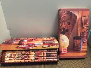 可口可樂~筆盒(2盒) 連記事簿(共三樣)