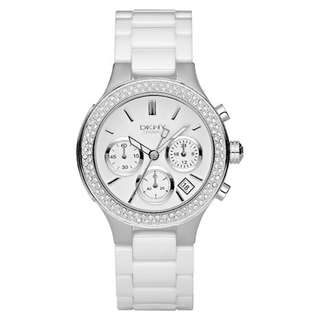 WHITE DIAL WHITE CERAMIC LADIES WATCH NY4985