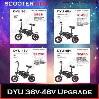 DYU 36v ~ 48v Upgrade Set up