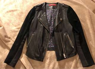 Tigerlily Leather and Suede Jacket