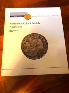 SINCONA World Numismatic Coins & Medals Auction 26 Hardcover Catalogue Literature (445 Pages) Very-New Condition!