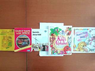 One daily bible activity pack for 3-6 year olds children. The rest are mixed and used children's books.