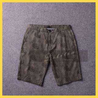 18SS和夏天很配環保印花面料尾貨男士時尚修身休閒短褲3NaZZ