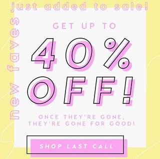 [SALE] Colourpop 40% OFF LAST CALL ITEMS