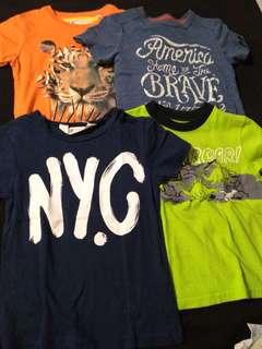 Bundle of Branded Shirts (2-4T)