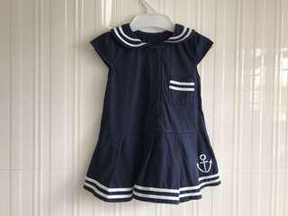 Navy girl baby dress