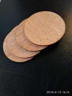 Laser-cut wooden pieces