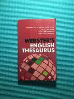 Webster's English Thesaurus