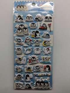 [BN] 3D Pop Up Penguin Sheet Sticker (Blue Ver)