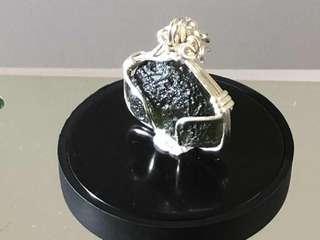 捷克隕石吊咀 Moldavite Wire Wrapped Pendant