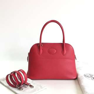 Authentic Hermes Bolide 27 Rouge Cassaque