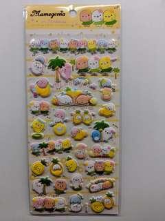 [BN] 3D Pop Up Seal Sheet Stickers (Yellow Ver)