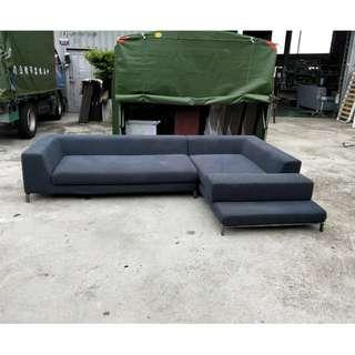 合運二手傢俱~L型布沙發(可拆洗)A01438