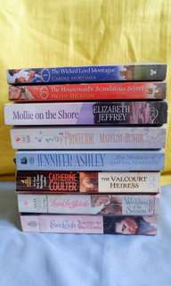 Historical Romance Novels Pile 2 Set 1