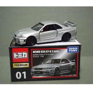 Takara Tomy Tomica Premium 01 Nissan NISMO R34 GT-R Z-tune 1/62 Diecast Car