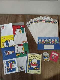 Sanrio pekkle ap鴨 信封信紙 set