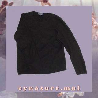 Cashmere top pullover black size s to m