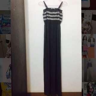 C6 Gray Maxi Dress