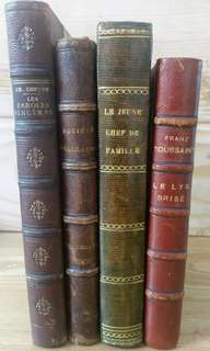 🚚 4 OLD FRENCH BOOKS