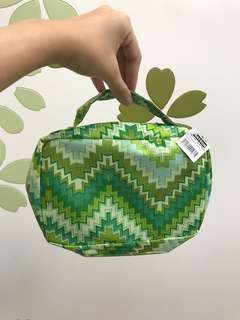 Watsons green aztec bag